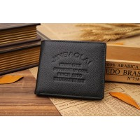 NEW 2015 Fashion Designers Brand Genuine Leather Solid Men's Wallets Money Clip Carteira Bi-Fold Wallet Free Shipping