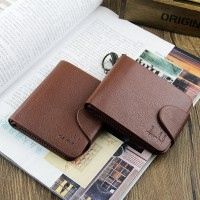 New 2015 Genunie Wallet Men Famous Brand Soft Leather Short Horizontal Vertical Wallets Carteira Money Purse