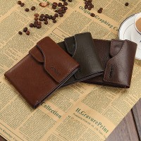New 2015 Leather Brief Wallets Fashion Short Men Wallets Design Card Holder Cowhide Wallet Men Bag