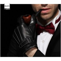 Men's fashion warm winter gloves touch screen leather gloves
