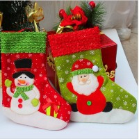new year Indoor hanging stockings Christmas decoration Santa Claus doll Christmas gift bag Two Design For Choose
