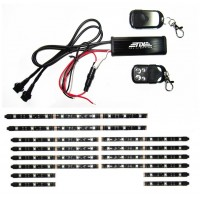 3 Sizes 14Pcs Led Strip 2 Remote Controls Cruisers Motorcycle Lighting 15 Color Kit