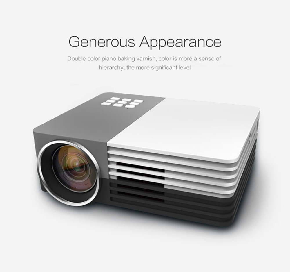Elephas tm gm 50 1080p mini led projector hdmi home for Mini hdmi projector
