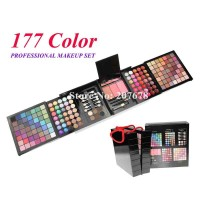 177 Color PRO Makeup Set Eyeshadow Palette Blush Lip Gloss Brow Shader Concealer Eyeshadow Gel and Brush