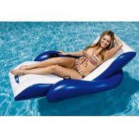 Fashion New Inflatable Floating Recliner Lounger Chair Air Bed Seat Lilo Pool Float