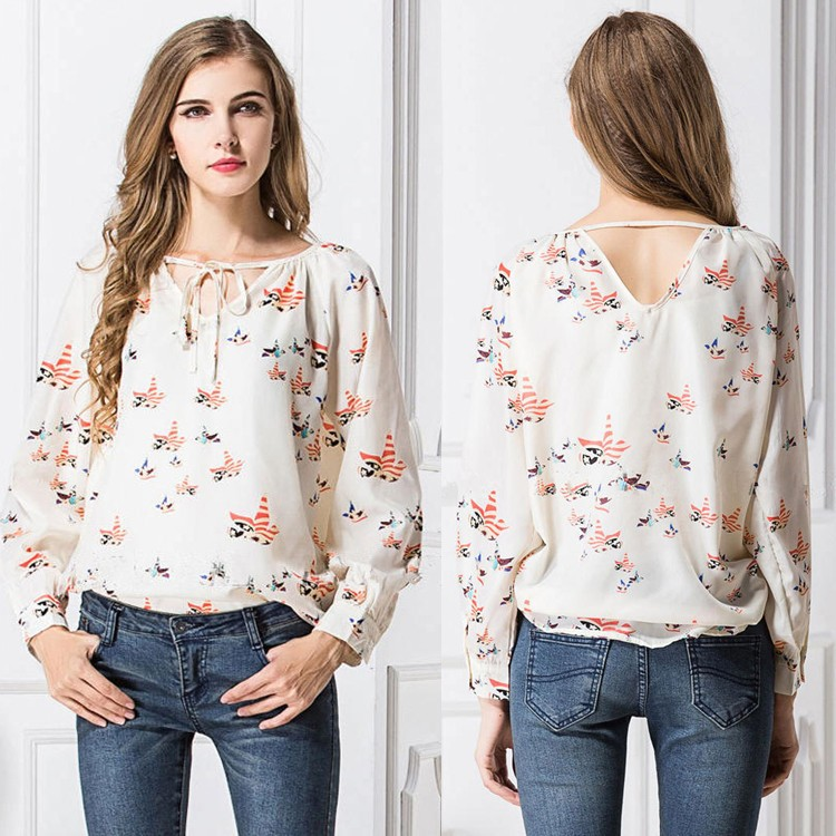 2015 Womens New Fashion Ladies Eelegant Floral Print Blouse Casual Vintage  Shirt Slim Brand Designer Tops. 2015 Womens New Fashion Ladies Eelegant Floral Print Blouse Casual