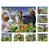 8Pcs/lot Children's Educational toys Plants vs Zombies Jigsaw Puzzles For Kids toys 8 Designs Cartoon Puzzles for Children