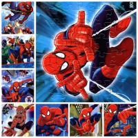 8pcs/Lot 8 different  spiderman Puzzles Kids Educational Toys DIY 2D Paper Jigsaw Puzzles