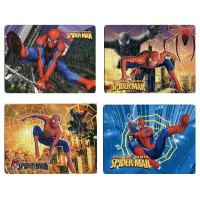 4pcs/Lot Hot Selling Puzzles Kids Educational Toys DIY 2D Paper Jigsaw Puzzles For Children Gift Thomas spiderman puzzle