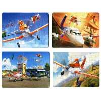 4Pcs/lot Children's Educational toys J Planes Puzzles For Kids toys 4 Designs Cartoon Puzzles for Children 2D puzzles