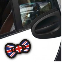 30pcs Union Jack Color Bowknot Car Stickers Boys Girls Cute Car Decal Vehicle Tail Trendy Decoration Sticker Decals