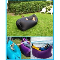 fast Inflatable lazy air bag hangout sleep hiking camping ...
