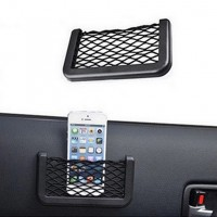 Hot Car Net Bag Car Organizer Nets 15X8cm Automotive Pockets With Adhesive Visor Car Bag Storage for tools Mobile phone