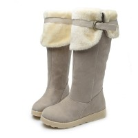 US Size 5-12 Women Winter Keep Warm Flat Plush Snow Boots Ankle long Boots