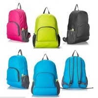 2016 Portable Fashion Travel Backpacks Zipper Soild Nylon Back Pack Daily Traveling Women men Shoulder Bags Folding Bag