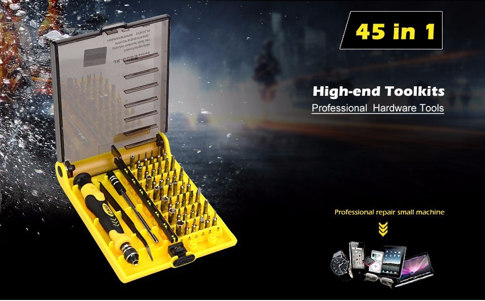 precision 45 in 1 electron torx mini magnetic screwdriver tool set hand tools screwdrivers kit. Black Bedroom Furniture Sets. Home Design Ideas