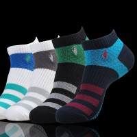 5pairs/lot 2015 new cotton short socks brand Sports skateboard ankle socks mens polo sock spring autumn summer wz04