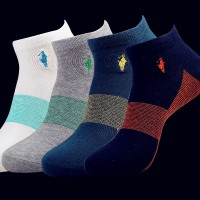 5pairs/lot 2015 New high quality Cotton Short Socks Brand Ankle Socks Mens Polo Sock Spring Autumn Summer wz01
