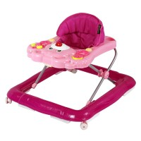 Lovely bear baby walker with variety of music,3 height adjustment,6 safety footgrips