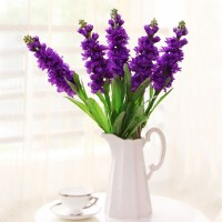Mastone  Artificial Flower Violet Hyacinth 1 Bunch