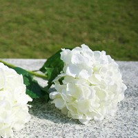 Mastone  Artificial White Silk Flower Spray