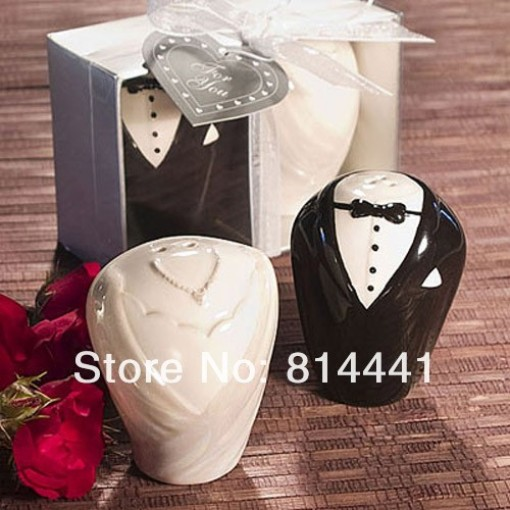 Wedding Gifts, Baby Shower favors Bride and Groom Salt and Pepper ...