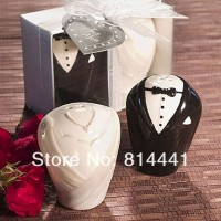 Wedding Gifts, Baby Shower favors Bride and Groom Salt and Pepper Shakers