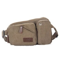 Canvas Bum Bag Fashionable Waist Bag Outdoor Activity Phone Wallet Bag for Men and Women