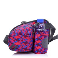 Multifunctional Water Resistant Waist Pack with Water Bottle Holder (The Bottle Is Not Included) for Running Hiking Cycling Climbing Camping Travel
