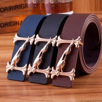 2017 Smooth Leather Belt Buckle New Men's and Women's Leather Belt All-match Letter Belt A294