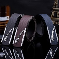 2017 Smooth Leather Belt Buckle New Men's and Women's Leather Belt All-match Letter Belt H098