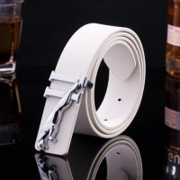 2017 Smooth Leather Belt Buckle New Men's and Women's Leather Belt All-match Letter Belt A274