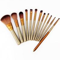 Free shipping High-grade high-quality goods tin box Makeup brush sets 12 pens Colour makeup tool golden rod Makeup brush