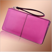 Korean Style Women Clutch Pu Leather Zipper Wallet Long Women Purse