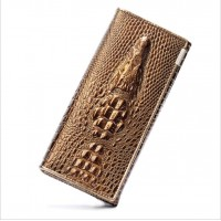 2015 New Arrival Genuine Leather Female Purse Alligator Skin Woman Wallet Free Shipping