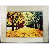 Paintings drawn by needle and  thread free shipping