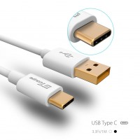 USB 2.0 Type C(USB-C) to USB A Male Cable 3.3 Ft/1m TPE Charging Cable Data Cable - White