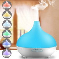 DT-1516 300mL Humidifier Ultrasonic Essential oil Diffuser /Waterless Auto Shut-off function /7 Colors LED Aromatherapy for Home Office Yoga Studio