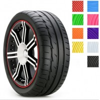 Universal car styling DIY rim care 8M Auto car Wheel stickers 9 colors