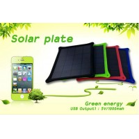 Solar Plate Battery 5V/1000mah 5W External Emergency Portable Battery Charger Power Supply for Cellphone Smartphone