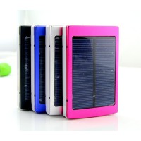 20000 mAh Solar Battery Panel External Charger Dual Charging Power Bank Ports for Laptop Cellphone