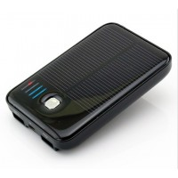 5000mAh Portable Emergency External Battery Dual USB Solar Charger Mobile Power Bank for Samsung Galaxy S5 S3 S4 Smartphone