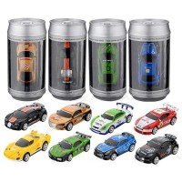 Coke Can Mini RC Car Radio Remote Control Micro Racing Car 4 Frequencies 20 KM/H