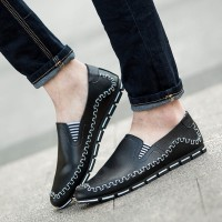 Men's Casual Shoes PU Leather Shoes Driving A Pedal Fashion Peas Shoes Loafers