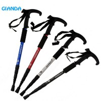 Aluminum Alpenstock Climbing stick curved handle crutches travel supplies explosion paragraph climbing supplies