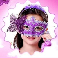 Halloween Adult Children Princess Mask Venetian Masquerade Patch Painting Party Girls and Boys Butterfly Goggles