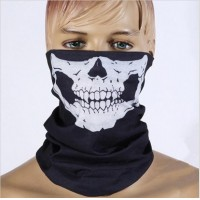Outdoor scarf magic skull riding campaign face scarf collar dust face mask square