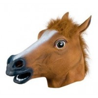 Horse Mask Headgear Animal Pleasures Jun Ma Halloween Mask Latex Mask