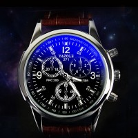 201 fashion watches leather watches male quartz watch waterproof business