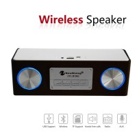 HY-BT96 solid wood wireless Bluetooth speakers LED colorful lights dual speakers multi-function mini stereo